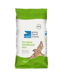 RSPB No Mess Sunflower Mix Wild Bird Food – 1.8kg