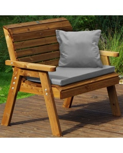 Charles Taylor 2 Seater Bench with Grey Cushions