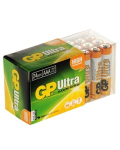 GP Ultra AAA Alkaline Batteries - Box of 24