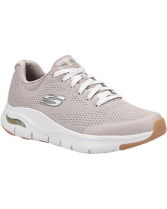 Skechers Mens Arch Fit Lace Up Sports Shoes - Taupe