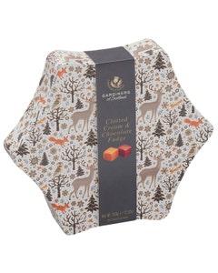 Gardiners Christmas Star Clotted Cream and Chocolate Fudge Tin - 350g