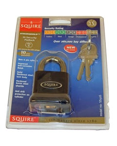 Squire Open Shackle Lock Cylinder Padlock