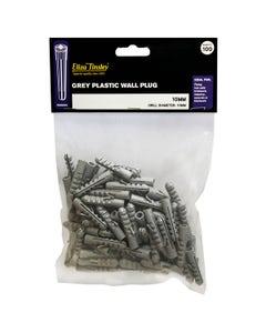 Eliza Tinsley Grey Wall Plugs 10mm - 100 Pack
