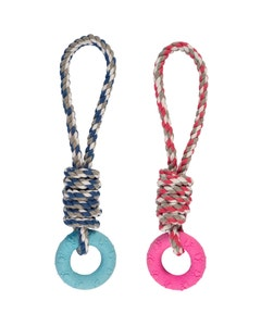 Ancol Small Bite Puppy Rope & Rings Toy – Assorted