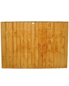 Forest Garden Featheredge Fence Panel - 1.83m x 1.22m (6' x 4') Pack of 3