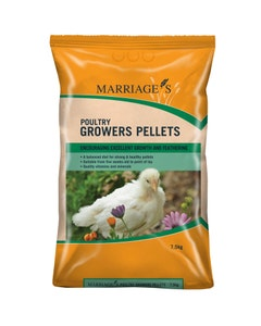 Marriages Poultry Growers Pellets - 7.5kg