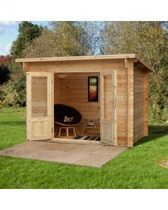 Forest Garden Harwood Log Cabin 2m x 3m 24kg Felt Roof with Underlay - Unassembled
