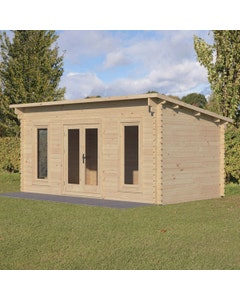 Forest Garden Elmley D/G Log Cabin 5m x 3m 34kg F/R W/U - Unassembled