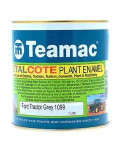 Teamac Ford Grey Metalcote Plant & Industrial Enamel Paint - 1L