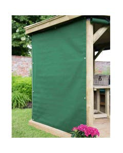 Forest Garden Premium 5.1m Oval Gazebo Curtains Green - Set of 8