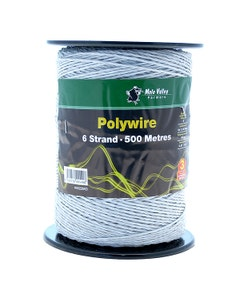 MVF 6 Strand White Polywire - 500m