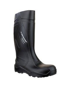 Dunlop Adults Purofort+ Full Safety Wellington Boots - Black