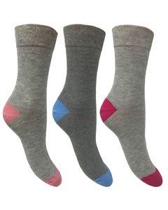 Cleversocks Flexitop Ladies Heel & Toe Socks – Pack of 3