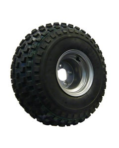 22X11-8 02 PLY Assembly 4 Stud 100 PCD Silver Wheel