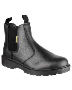 Amblers Adults FS116 Dual Density Pull On Safety Dealer Boots - Black