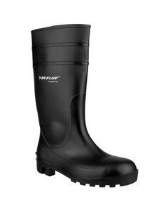 Dunlop Adults Protomastor Full Safety Wellington Boots - Black