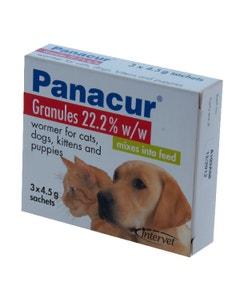 Panacur Granules 22% 3 x 4.5g