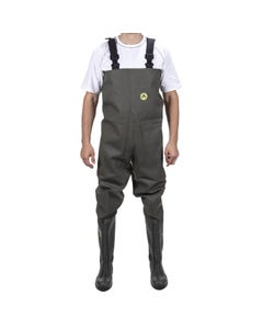 Amblers Adults Tyne Chest Safety Waders - Green