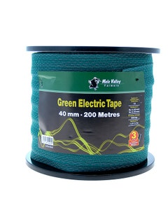 MVF Electric Green Fence Tape - 40mm x 200m
