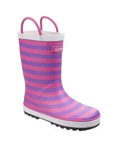 Cotswold Children's Captain Stripy Wellington Boots - Pink