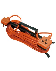 Masterplug One Gang Extension Lead On Cable Tidy