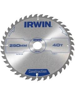Irwin Circular Saw Blade 250mm x 30mm x 40T