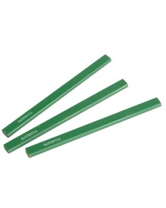 3 Hard Green Carpenters Pencils
