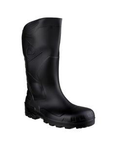 Dunlop Adults Devon Full Safety Wellington Boots - Black