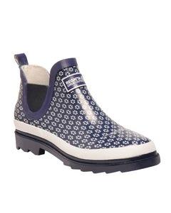 Regatta Ladies Harper Short Wellington Boots - Navy/White