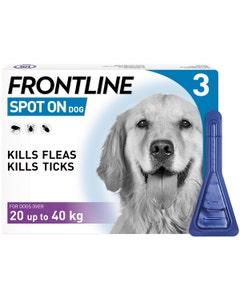 Frontline Spot On Dog - Large 20-40kg - 3 Pack