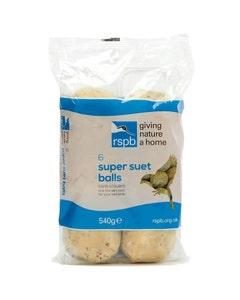 RSPB High Energy Super Suet Fat Balls Wild Bird Food – Pack of 6
