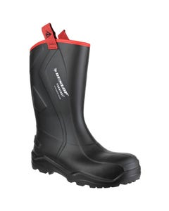 Dunlop Adults Purofort+ Rugged Full Safety Wellington Boots - Black