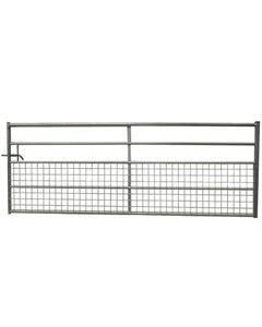 IAE Galvanised Long Box End 5 Bar Half Meshed Gate - 12ft