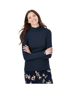 Joules Ladies Clarissa Solid Rolled Neck Jersey Top