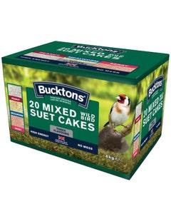 Bucktons Mixed Wild Bird Mixed Suet Cakes - Pack of 20