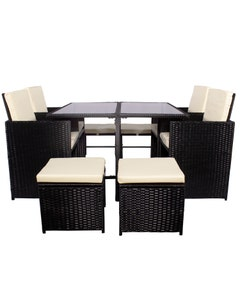 Royalcraft Cannes Black Cube Dining - 8 Seater