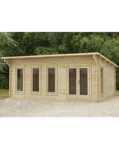 Forest Garden Wolverly D/G Log Cabin 6m x 4m 34kg F/R W/U - Unassembled