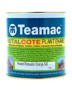 Teamac Rot. Orange Metalcote Plant & Industrial Enamel Paint - 1L