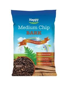 Happy Compost Medium Chip Bark - 50L
