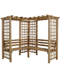 Forest Garden Sorrento Arbour Seat - Unassembled