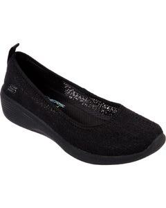 Skechers Ladies Arya Airy Days Slip On Shoes - Black
