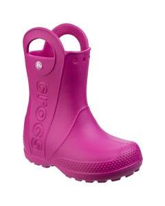 Crocs Children's Handle It Wellington Boots - Candy Pink