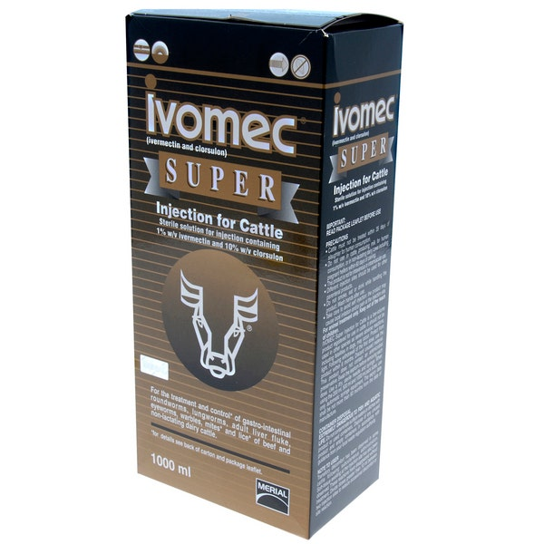 An image of Ivomec Super Injection For Cattle - 1000ml