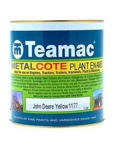 Teamac John Deere Yellow Metalcote Plant & Industrial Enamel Paint - 1L