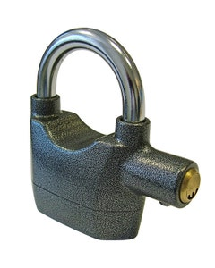 Faithfull Padlock 70mm With Security Alarm - Grey