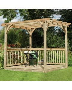 Forest  Garden Ultima Pergola Deck Kit 2.4 x 2.4m - Unassembled