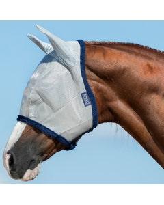 Horseware Amigo Silver/Navy Fly Mask - Small Pony