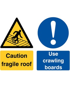 Raymac Signs Caution Fragile Roof Use Boards Sign