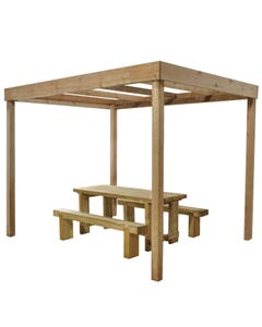 Forest Garden Dining Pergola Without Panels - Unassembled