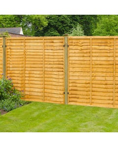 Forest Garden Trade Lap Fence Panel 1.83m x 1.83m (6' x 6') - Pack of 5